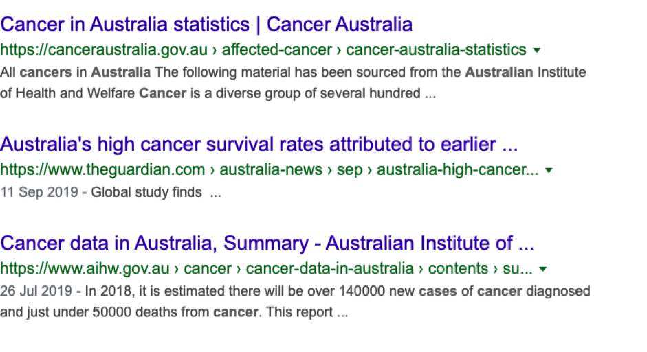Google Preview - Cancer